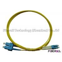 SC To LC Fiber Patch Cable , Optical Fiber Patch Cord SM Duplex With Pulling Eye Manufactures