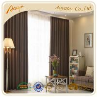 China polyester-cotton fabric drawing room blackout window curtain brown Customized on sale