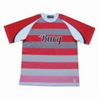 Soccer Jersey, Made of Poly Dri-fit, Customized Sublimation Designs are Welcome Manufactures