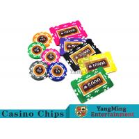 Entertainment 12g 760pcs Custom Poker Chip Sets With Anti - Off Film Protection Manufactures