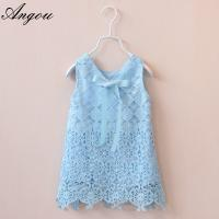 Agnou Summer Lace Vest Girls Dress Baby Girl Princess Dress Chlidren Clothes wholesale Manufactures