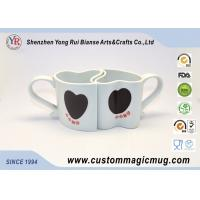 China Cute Heart Shape Porcelain Couples Coffee Mugs , Porcelain Personalized Coffee Travel Mugs on sale