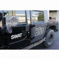 Stickers with Printed Patterns, Zebra Metallic PVC Manufactures