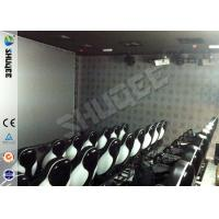 Quality Genuine Leather Convenient 6D Movie Theater With 3DOF Motion Chairs for sale
