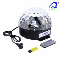 China MP3 Crystal Led Magic Ball Light 18W For Medium Live Concerts Stage Lighting on sale
