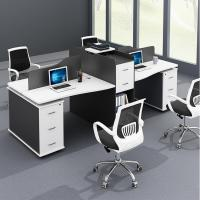MDF Surface With 45 Degree Inclining Office Workstation Desk For Staff Area Manufactures