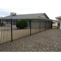 Iron Garrison Fence Panel PVC Coated Ornamental Wrought 1.8M X 2.1M Manufactures