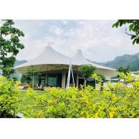 China White Luxury Resort Tents , Double Pagoda UV Protection Fabric High Mountain Tent on sale