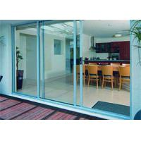 China AS2047 Aluminum Glass Sliding Door With 85 Series Aluminum Frame And Frosted Glass on sale