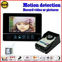 China 2.4GHz motion detection 7 inch wireless color video doorbell on sale