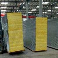 insulated sandwich panel fireproof 50mm glass wool roof tile for worker camp Manufactures