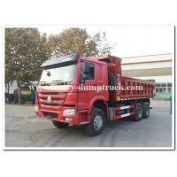 Sinotruk howo new dump truck 25tons tipper truck Euro II 371hp red color