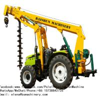 Steel Skid Loader Post Hole Digger / Yellow Light Pole Installation Equipment Manufactures