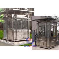 Government Departments Luxury Sentry Kiosk Custom Size And Color Manufactures