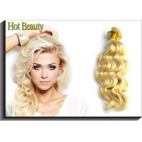 Quality Hot Beauty Russian Virgin Human Hair Extensions Body Wave Remy Hair Weft Color 613 for sale