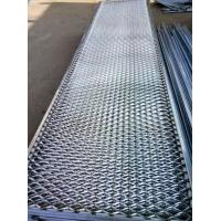 China Welded Frame Expanded Metal Mesh Rust Prevention For Fence / Steel Springboard on sale