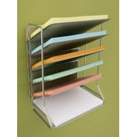 Office Magazine Display Racks Desk Organizer With 6 Tray Manufactures