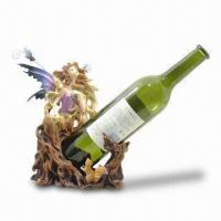 China Polyresin Wine Holder, Suitable for Promotional Gifts, Customized Logo Can be Grave on sale