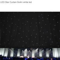 Super Bright RGBW6x 4m LED Star Curtain , Backdrop Curtain Cloth for Stage Background Manufactures