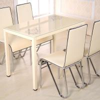 China Luxury Glass Dining Table And Chairs , Modern Home Decor Furniture on sale