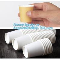 Custom made take away biodegradable PLA coffee disposable paper cups,Fully stocked biodegradable ripple paper cup PACKAG Manufactures