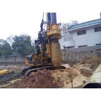 Small Hydraulic Piling Rig KR60C for Drilling 24m Depth Foundation Pile CE / ISO9001 Manufactures