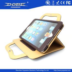 Handbag style protective multi-angel upstanding leather bag for iPad mini Manufactures