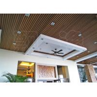 Suspended Wood Plastic Composite Ceiling Panels for Office / Hotel Manufactures