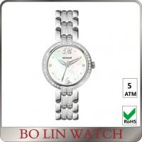 Elegant Hands Ladies Silver Diamond Watch 5atm AAA Zircons On Strap Manufactures