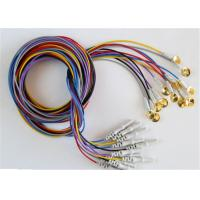 Colorful EEG Cables With Sliver Plating Cup Electrodes Shielding Wire Optional Manufactures
