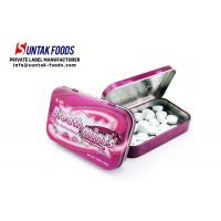 China Black Currant Flavor Meta Tin Box Candy Round Shaped Eco-Friendly on sale