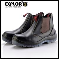 Men's safety boots slip-on boots men's steel toe work boots black Manufactures