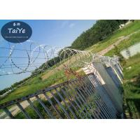 Commercial Airport Barbed Wire Brackets Silver Green Chain Link Barbed Wire Arm Manufactures