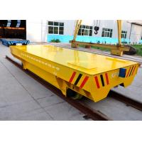 Large Platform Self Propelled Heavy Load Rail Transport Trailer With Steel Plate Manufactures