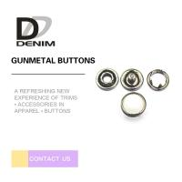 10mm Gunmetal Pearl Snap Buttons Metal Decorative For Jeans Parts Manufactures