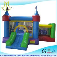 Hansel bouncy castles with slide,bouncy castles with slides,inflatable rides Manufactures