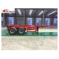 2/3/4 Axles Flatbed Container Trailer Custom Color With 3mm Diamond Plate Manufactures