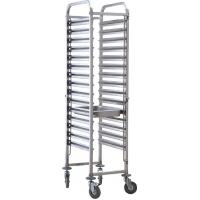 Quality Commercial Stainless Steel Baking Tray Trolley For Food Factory Durable for sale