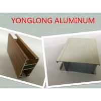 Customized Length Aluminium Extrusion Profiles Imitation Wood Grain Transfer Printing Manufactures