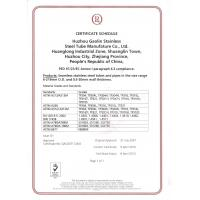 Huzhou Gaolin Stainless Steel Tube Manufacture Co., Ltd. Certifications