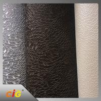 Plain Knitted Polyurethane Faux Leather For Sofa / Car Seat Cover Manufactures