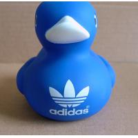China Customized Logo Blue Baby Rubber Duck 8cm Height Promotional Gift 16P Free for sale