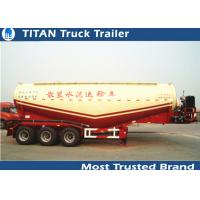 Reinforced steel Cement semi Trailer for dry bulk powder material transportation Manufactures