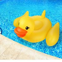 "Yellow Duck Pool Raft Huge 80"" Rubber Duck Pool Float Inflatables For Adults & Kids"