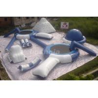 Inflatable Floating Water Park With Inflatable Iceberg And Water Slides For Lake Manufactures