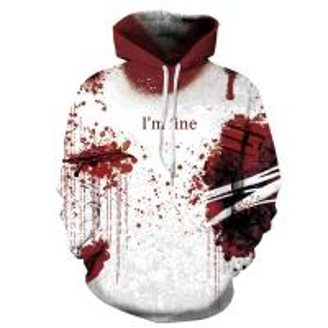 Unisex Hoodies Binmer Mens Women I'm Fine Halloween Sweatshirt Long Sleeve Casual Hooded Pullover Tops Manufactures
