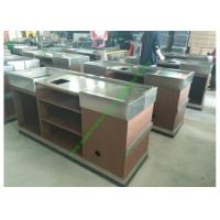 Quality Stainless Steel Cash Register Counter Stand / Till Counters For Shops Or Retail for sale