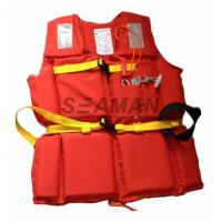 210D Polyester Oxford EPE Foam Workers Adult Life Vest With Whistle / Rescue Buddy Line Manufactures