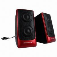 Desktop Hi-fi USB 2.0 Portable Speakers with 4Ω Impedance Manufactures