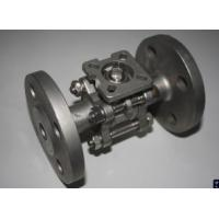 Quality 3-PC stainless steel flange ball valves full port ISO-DIRECT MOUNING PAD ss304 for sale